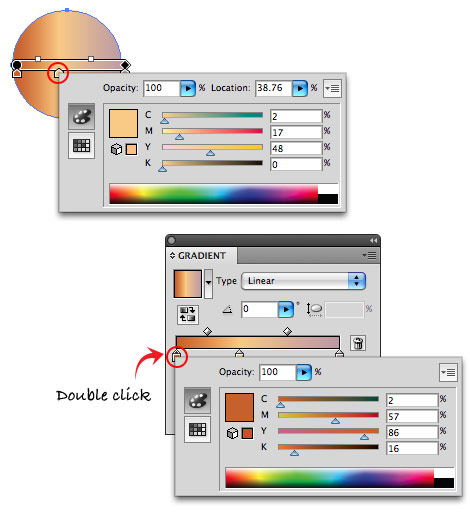 gradient sliders