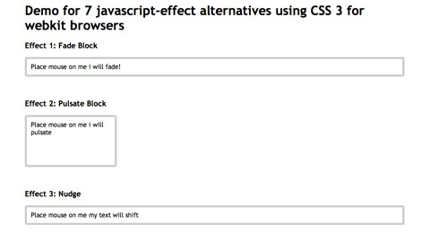 javascript effect alternatives