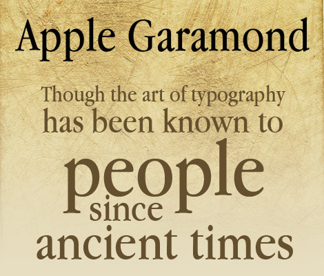 Apple Garamond free font