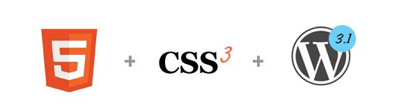 html5 css3 wordpress