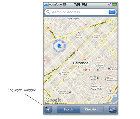 locator button