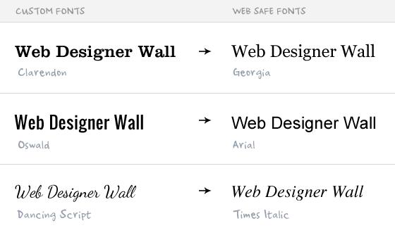 Custom fonts and Web safe fonts