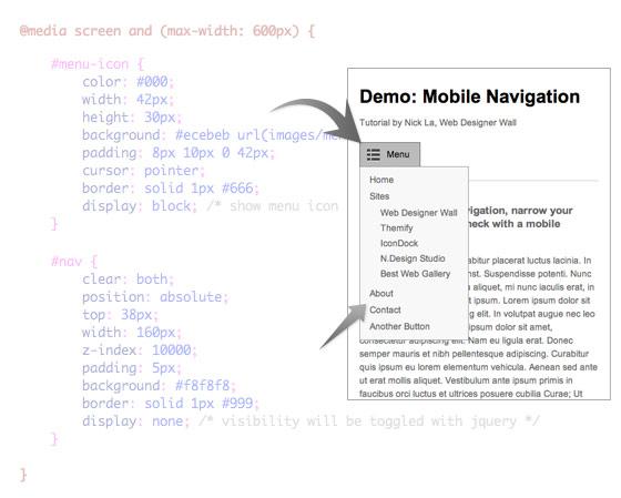 Mobile Navigation Design & Tutorial - Web Designer Wall