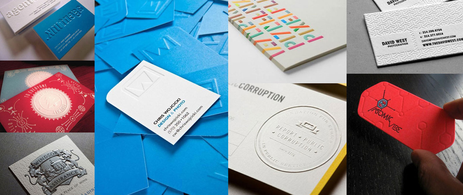 beautiful and creative embossed business card