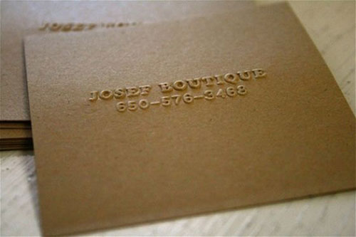 60 Beautiful & Creative Embossed Business Cards Web