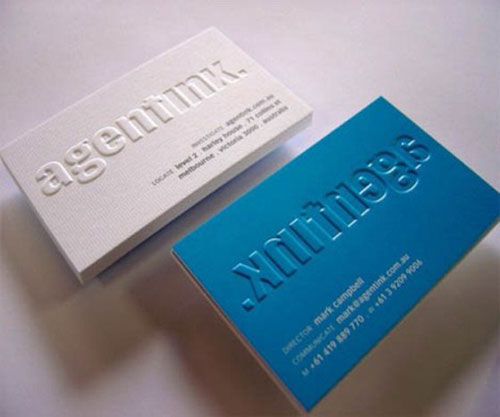60 Beautiful & Creative Embossed Business Cards - Web Designer ...