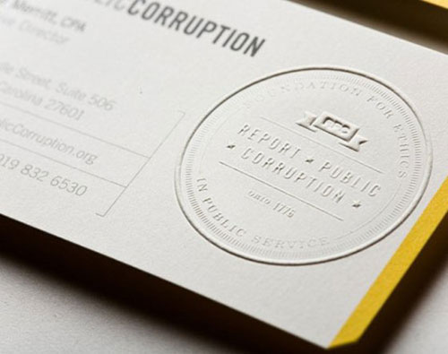 60 Beautiful Creative Embossed Business Cards Web Designer Wall