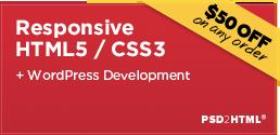 PSD 2 HTML