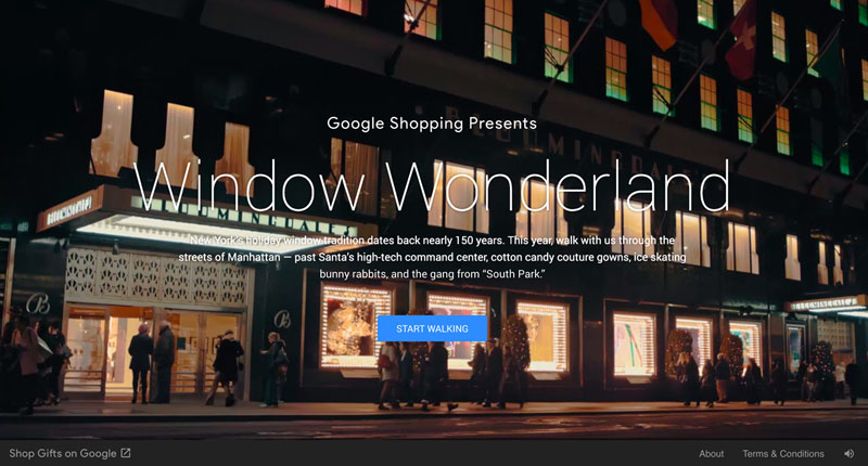 30 truly interactive websites built with css javascript for Window wonderland
