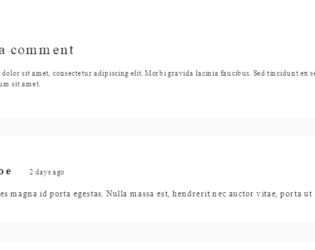 Bootstrap comments Examples - Web Designer Wall