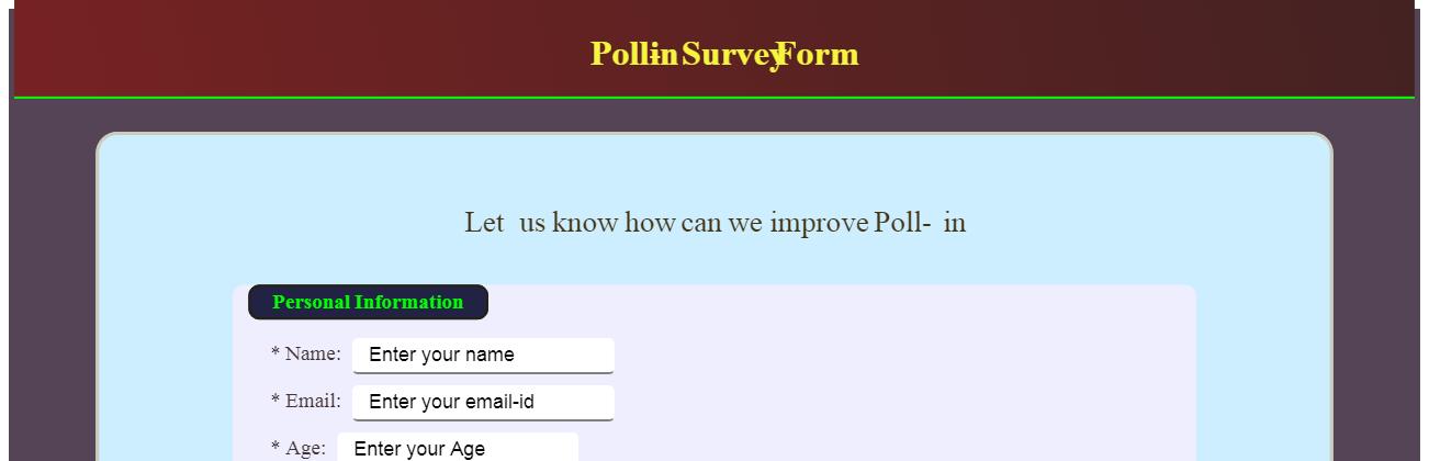 Poll-in: Survey Form - Web Designer Wall