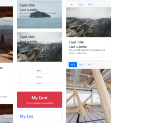 Bootstrap card Examples - Web Designer Wall