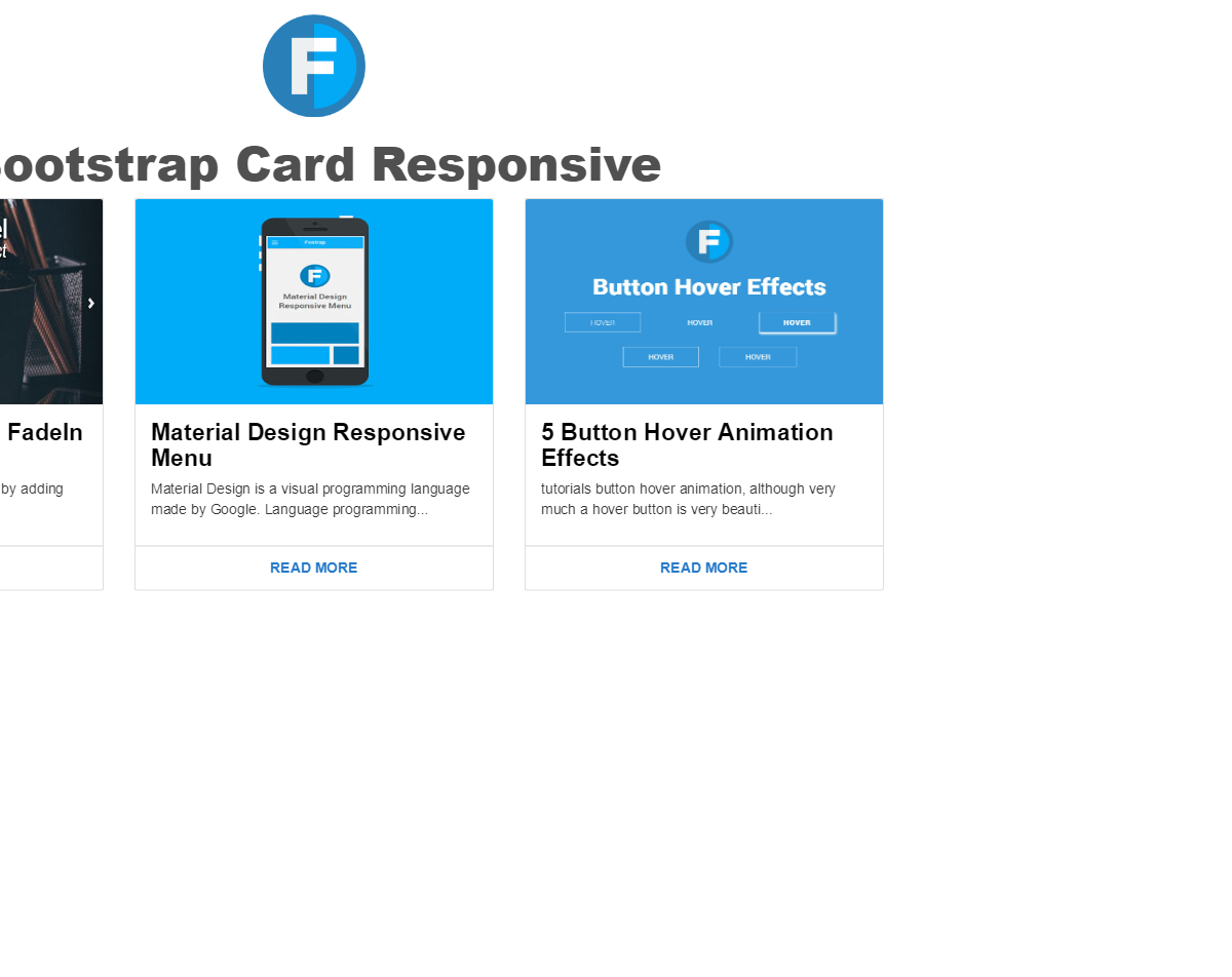 Bootstrap Responsive Card thumbnail - Web Designer Wall