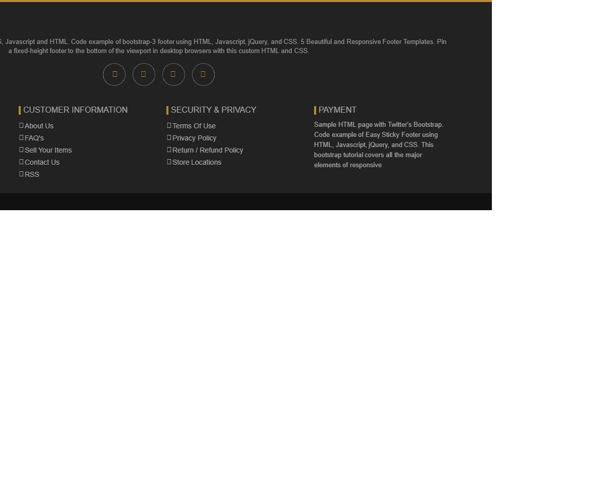 Bootstrap Mega footer - Web Designer Wall